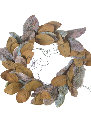 "Picture of 22""DUSTY MAGNOLIA LF WREATH"