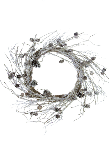 "Picture of 24""TWIG/PCONE  WREATH"