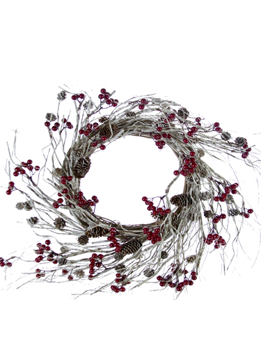 "Picture of 24""TWIG/BERRY/PCONE WREATH"