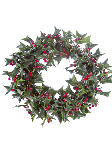 "Picture of 20"" HOLLY LF & BERRY WREATH"