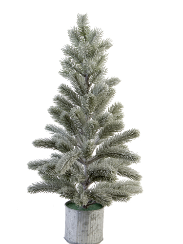 """Picture of 24"""" FLOCKED BALSAM PINE W/POT"""