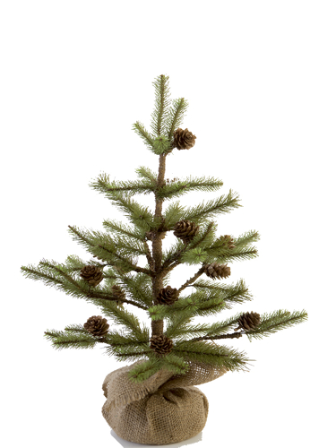 "Picture of 18"" EMPIRE PINE TREE W/CONES"