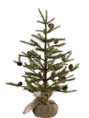 "Picture of 24"" EMPIRE PINE TREE W/CONES"