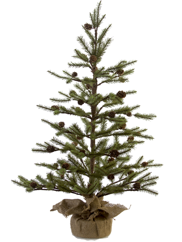 "Picture of 36"" EMPIRE PINE TREE W/CONES"