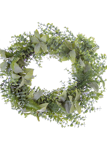 "Picture of 20"" SAGE/EUC./FERN WREATH"