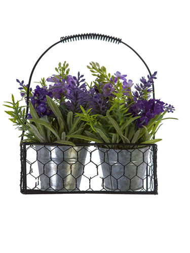 "Picture of 9"" LAVENDER MIX BASKET"