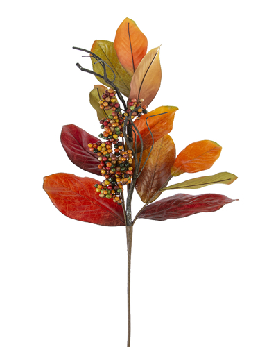 "Picture of 39""MAGNOLIA LEAF BERRY BRANCH"