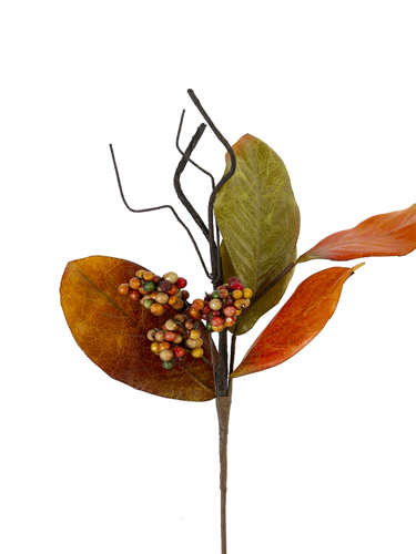 """Picture of 23""""MAGNOLIA LEAF BERRY SPRAY"""