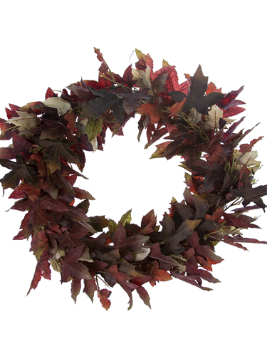 """Picture of 26"""" RED MAPLE LF WREATH"""
