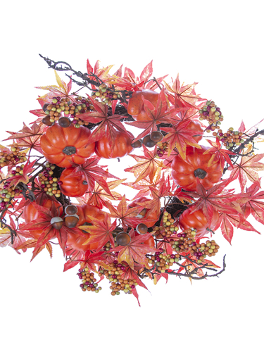 """Picture of 22"""" PUMPKIN MAPLE MIX WREATH"""