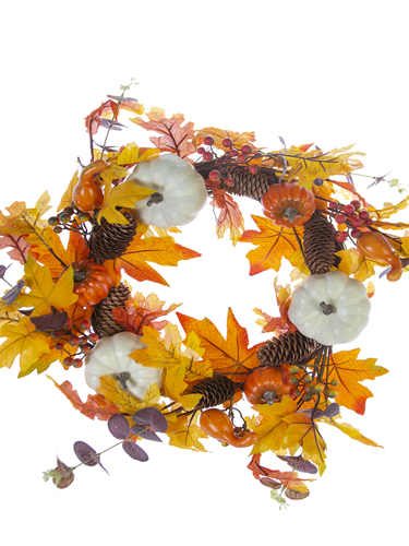"Picture of 20"" PUMPKIN FALL WREATH"