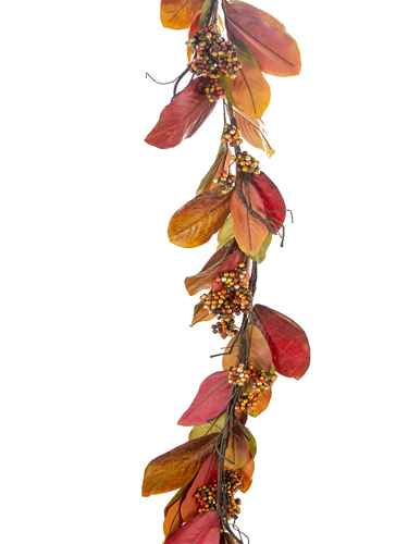 Picture of 6'MAGNOLIA LEAF BERRY GARLAND