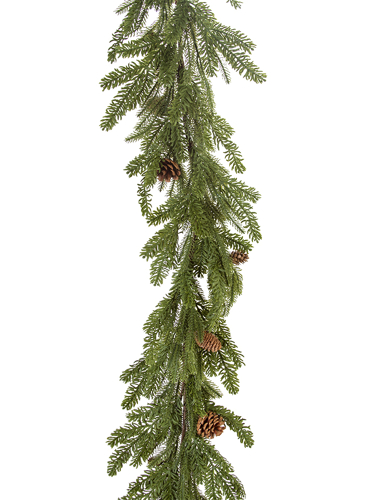 """Picture of 70"""" MIX PINE GARLAND W/CONES"""