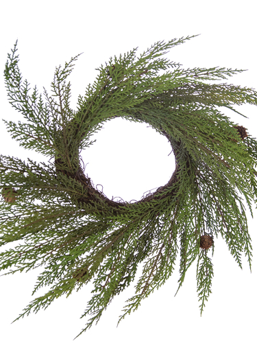 """Picture of 18"""" CYPRESS WREATH"""