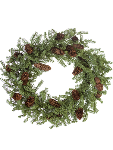 "Picture of 26"" SPRUCE WREATH"