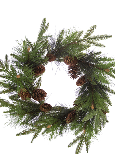 "Picture of 24"" FIR PINE W/CONES WREATH"