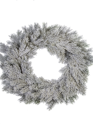 """Picture of 22"""" FLOCKED SPRUCE WREATH"""