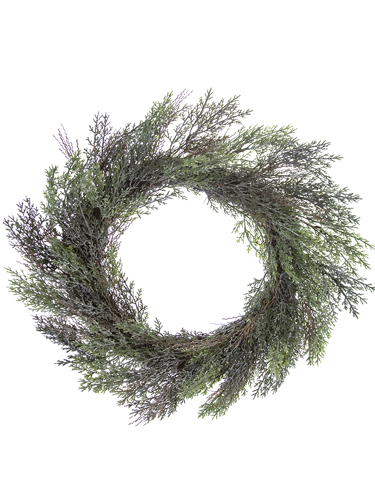 """Picture of 22"""" FROSTED CYPRESS WREATH"""