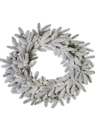 "Picture of 28"" FLOCKED SPRUCE WREATH"