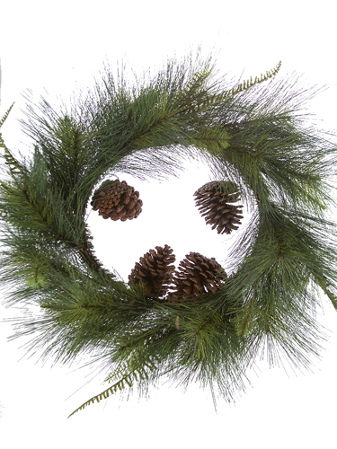 """Picture of 24"""" ROUND PINE WREATH"""