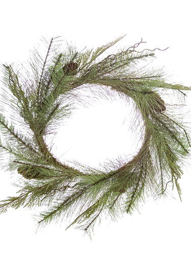 """Picture of 24"""" CEDAR/RED PINE WREATH"""