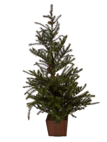 """Picture of 35"""" SPRUCE TREE W/CONES"""