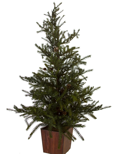 """Picture of 45"""" SPRUCE TREE W/CONES"""
