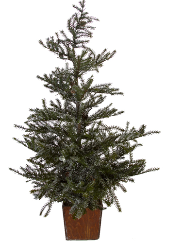 "Picture of 45"" SNOWY SPRUCE TREE W/CONES"